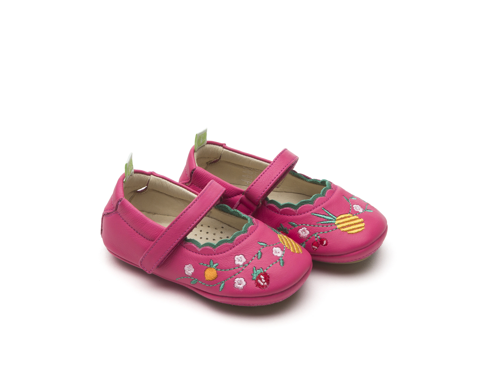 Baby Shoes Mary Janes Shoes Roundy garden Pink Size 14