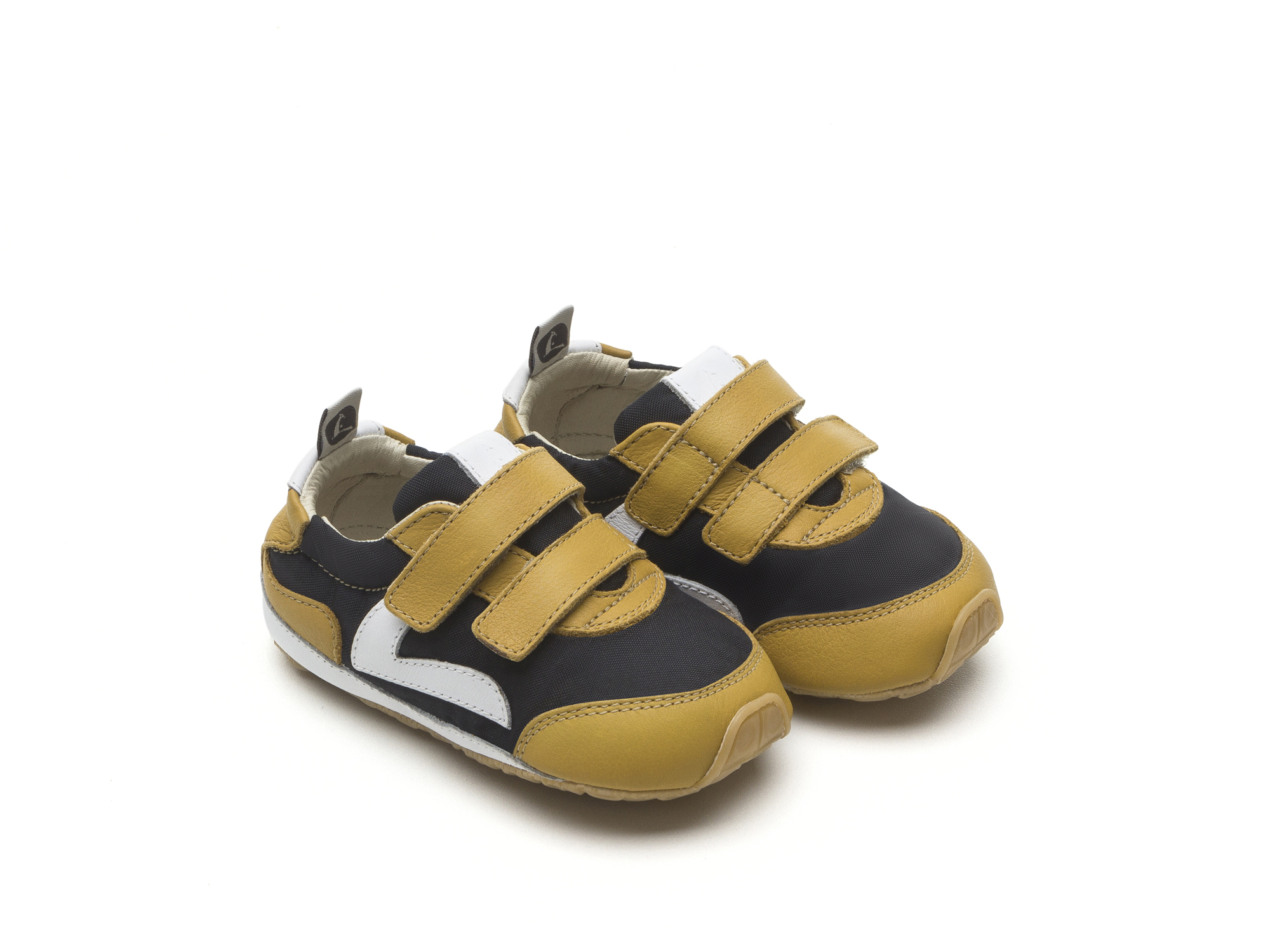 Tênis Jumpy Black Nylon/ Yellow Blur Baby for ages 0 to 2 years - 0