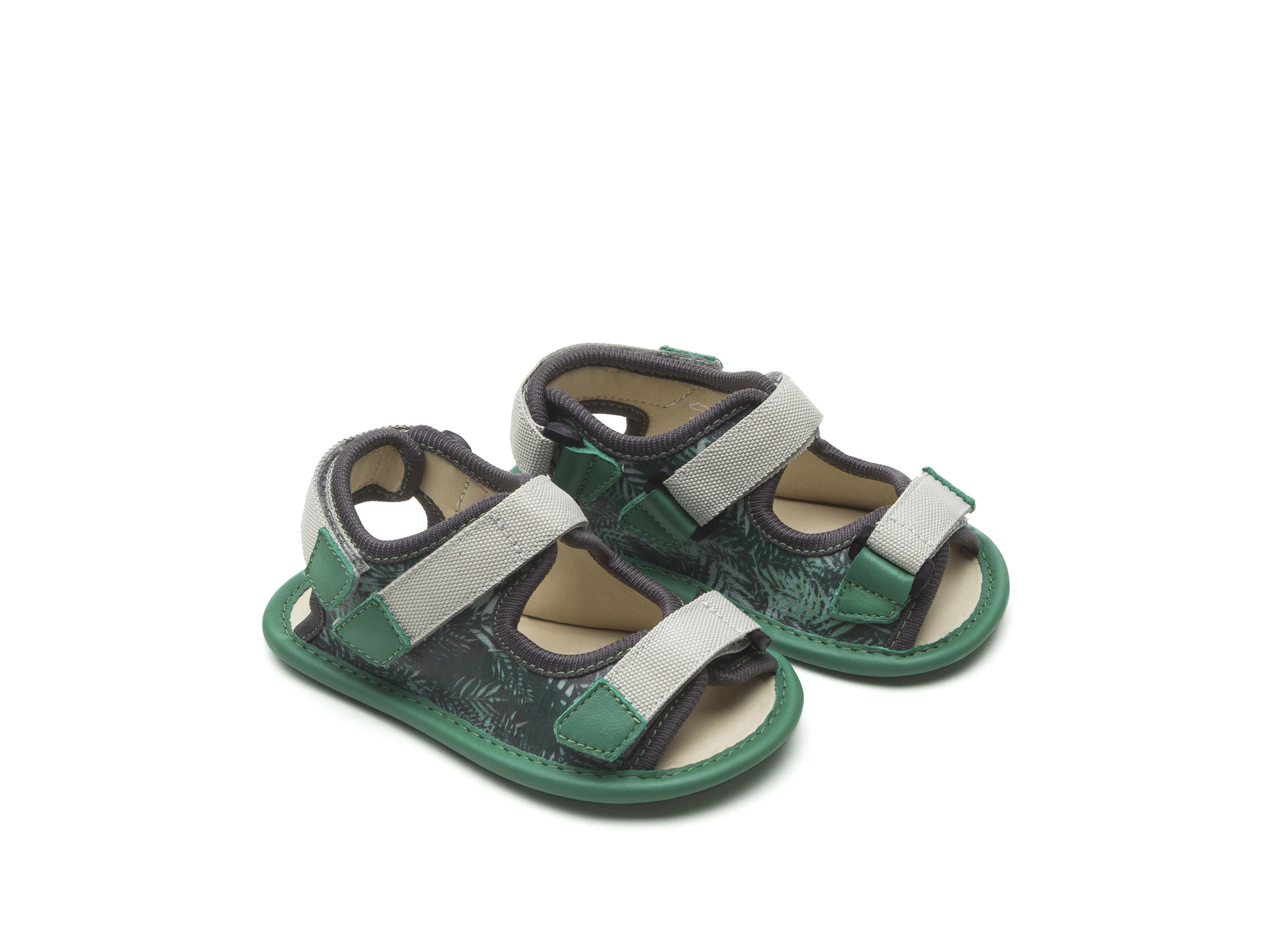 Sandal Boardy Green Palm/ Green Leaf Baby for ages 0 to 2 years - 0
