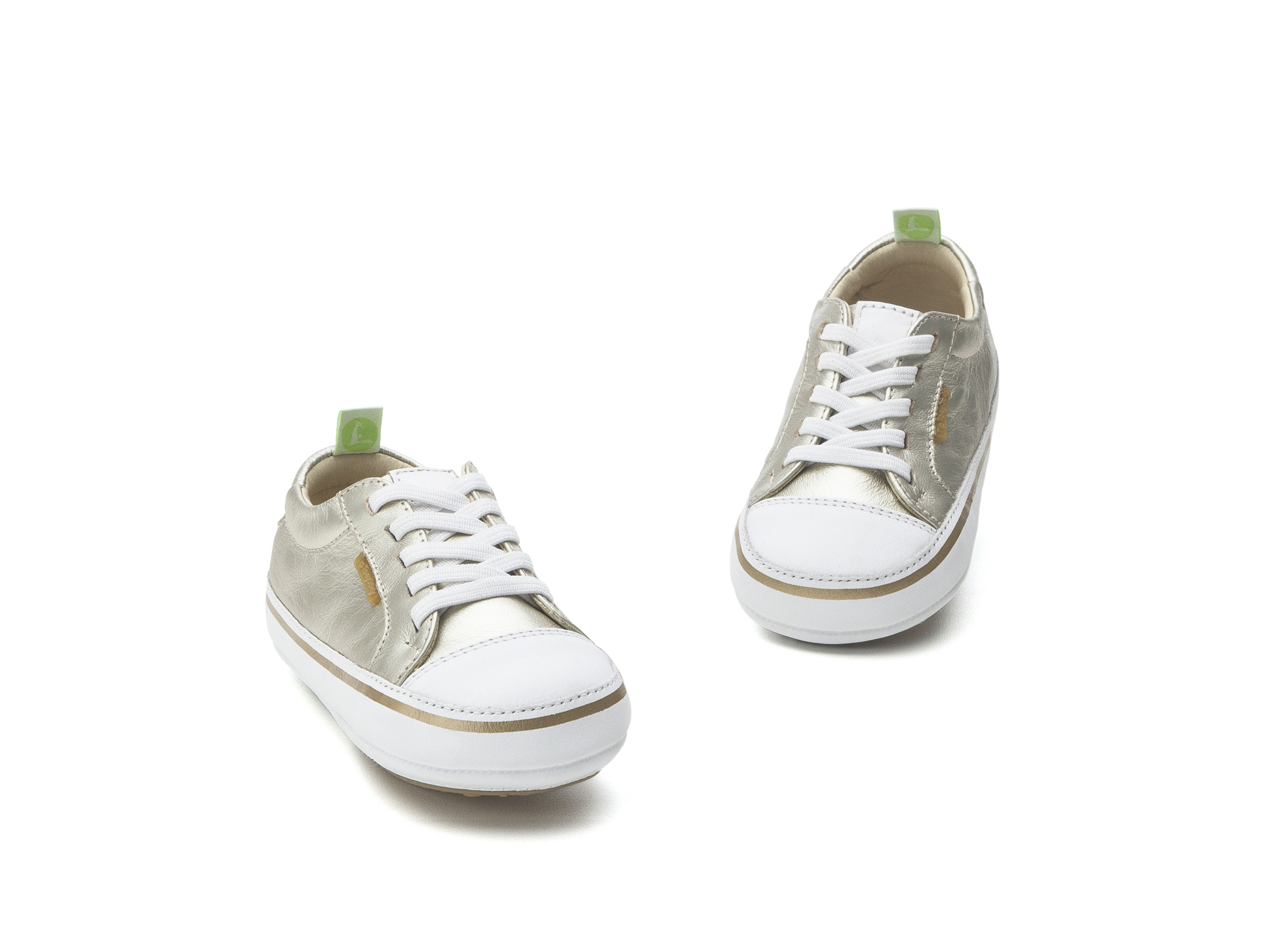 Tênis Funky Whitegold/ White Baby for ages 0 to 2 years - 2
