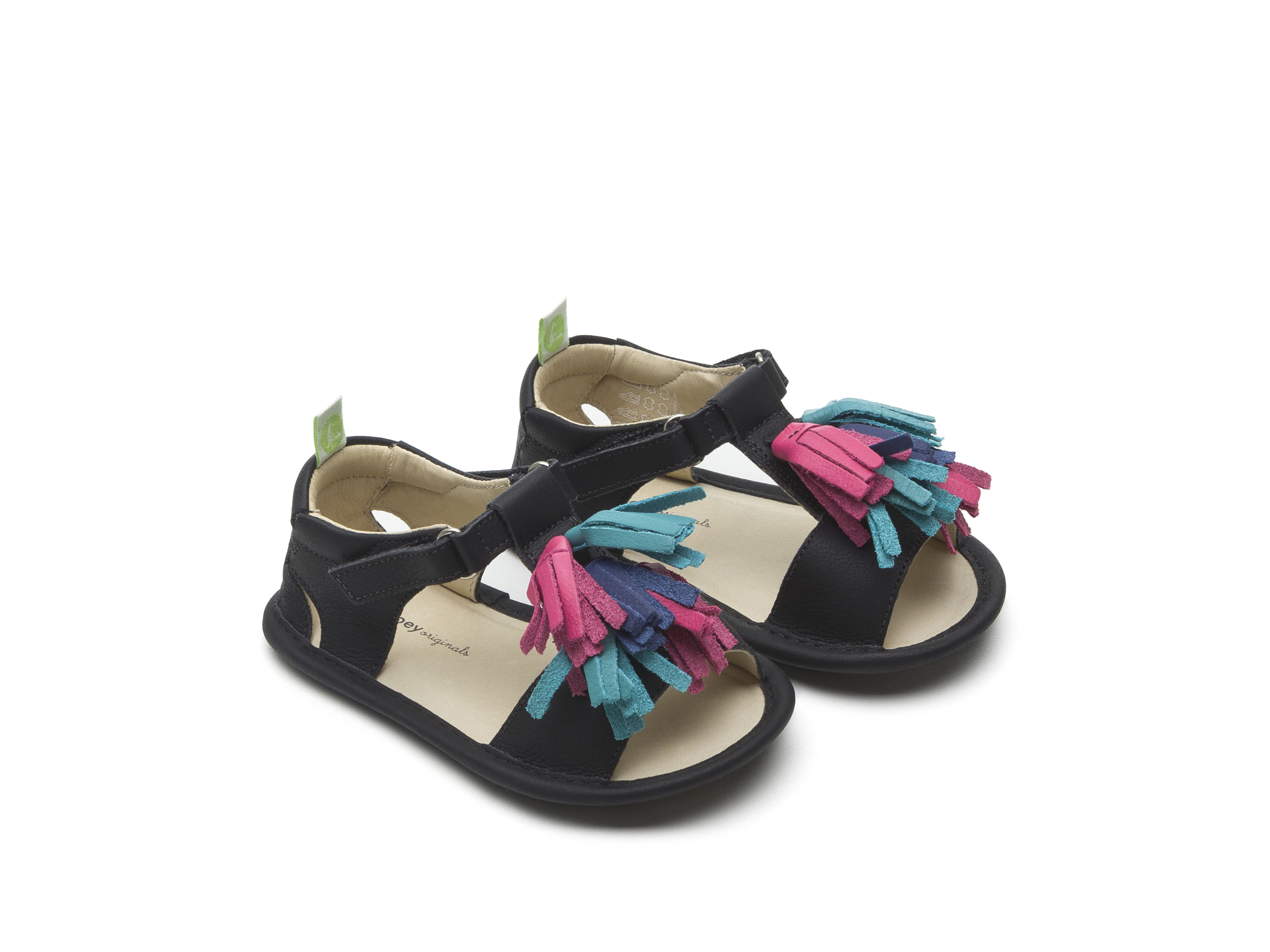 Sandal Folksy Black/ Tutti Frutti Baby for ages 0 to 2 years - 0