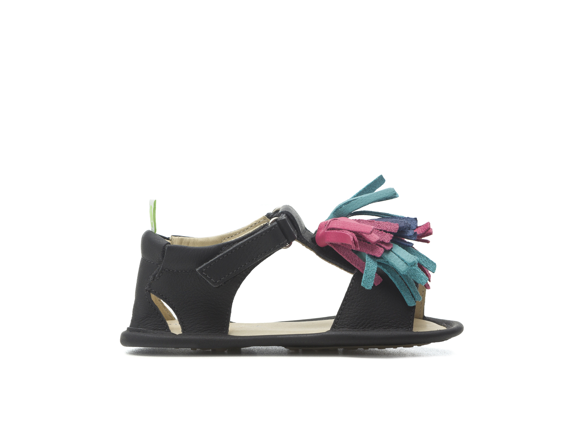 Sandal Folksy Black/ Tutti Frutti Baby for ages 0 to 2 years - 1