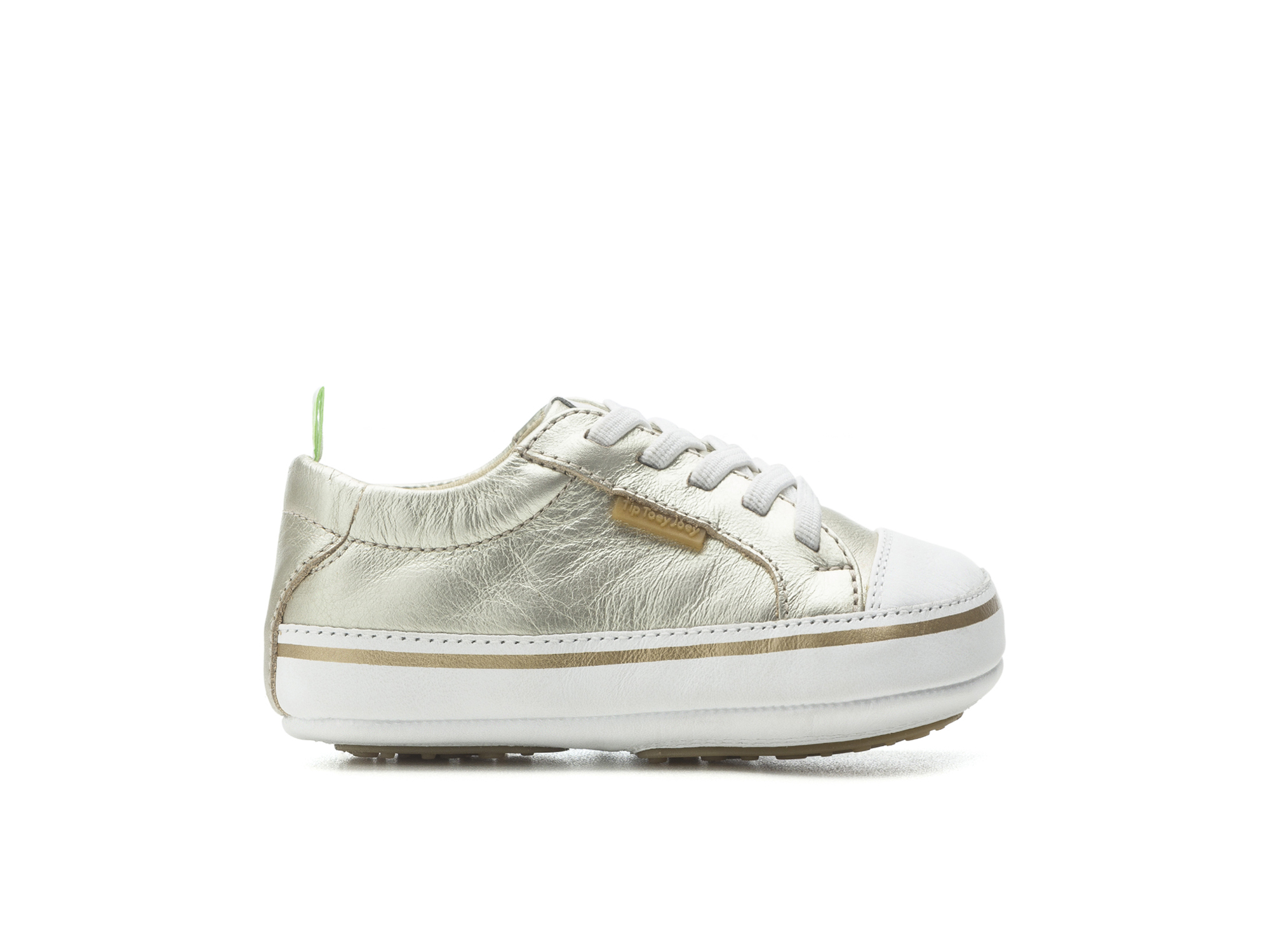 Tênis Funky Whitegold/ White Baby for ages 0 to 2 years - 1