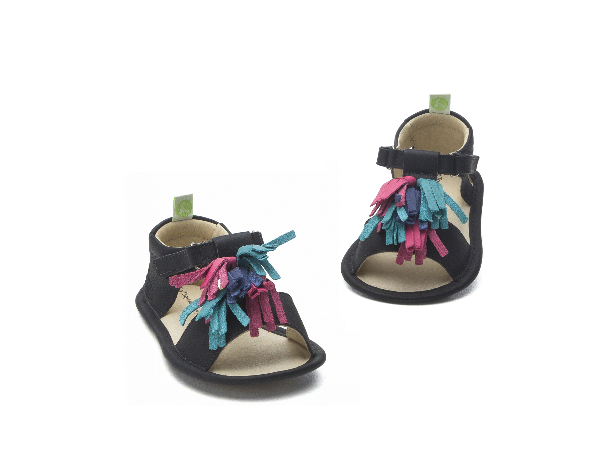 Sandal Folksy Black/ Tutti Frutti Baby for ages 0 to 2 years - 2