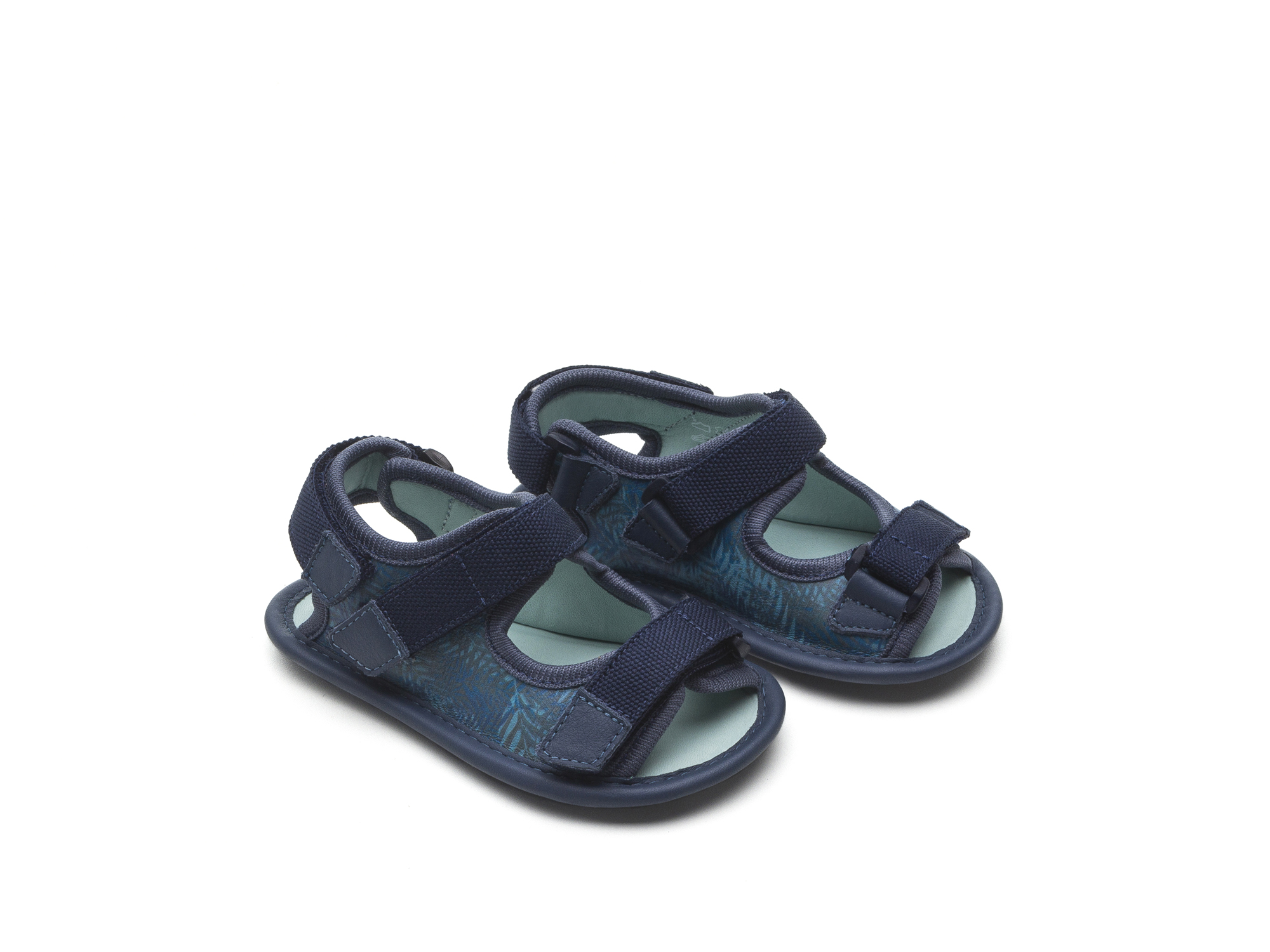 Sandal Boardy Blue Palm/ Rustic Blue Baby for ages 0 to 2 years - 0