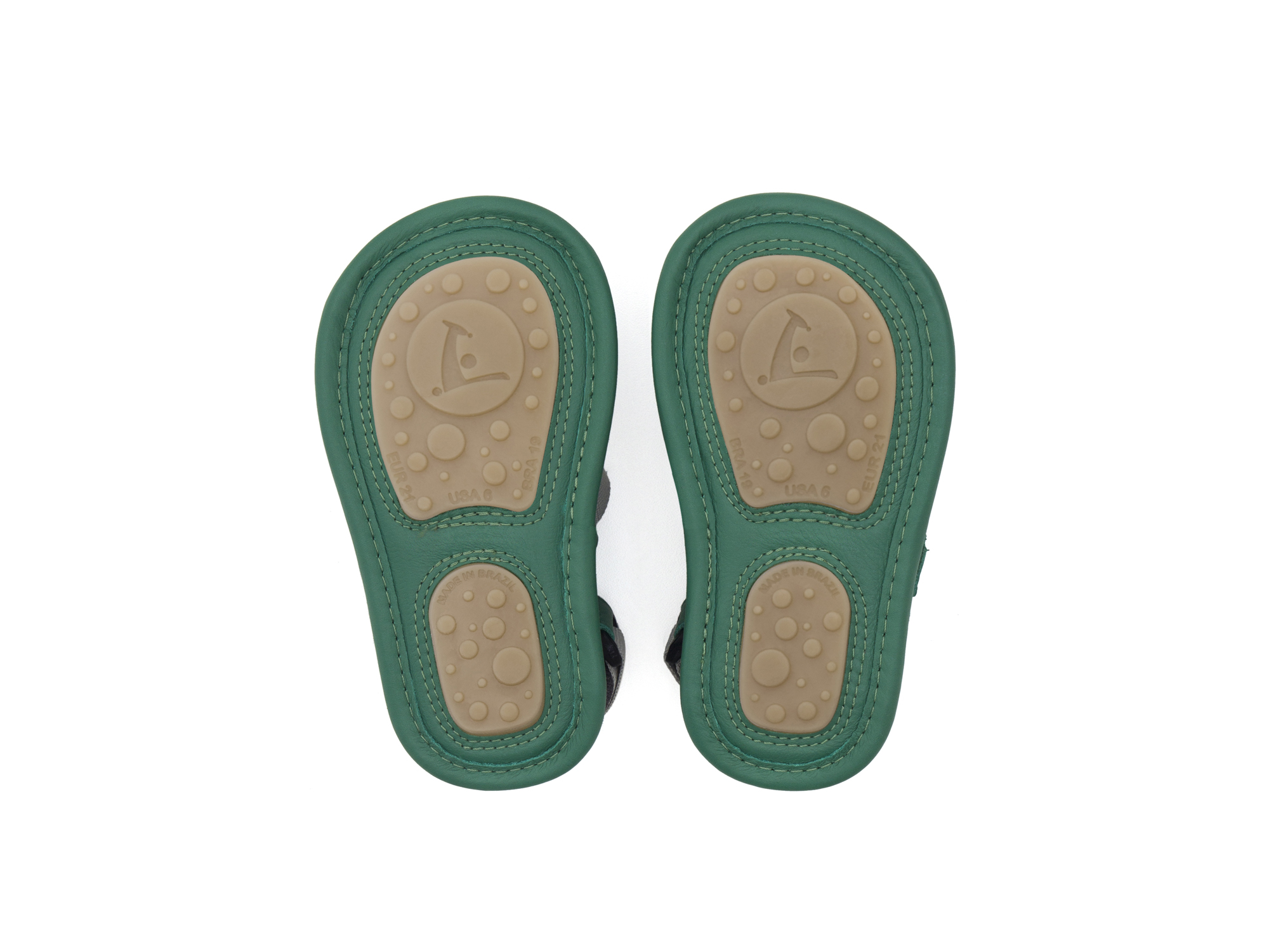 Sandal Boardy Green Palm/ Green Leaf Baby for ages 0 to 2 years - 3